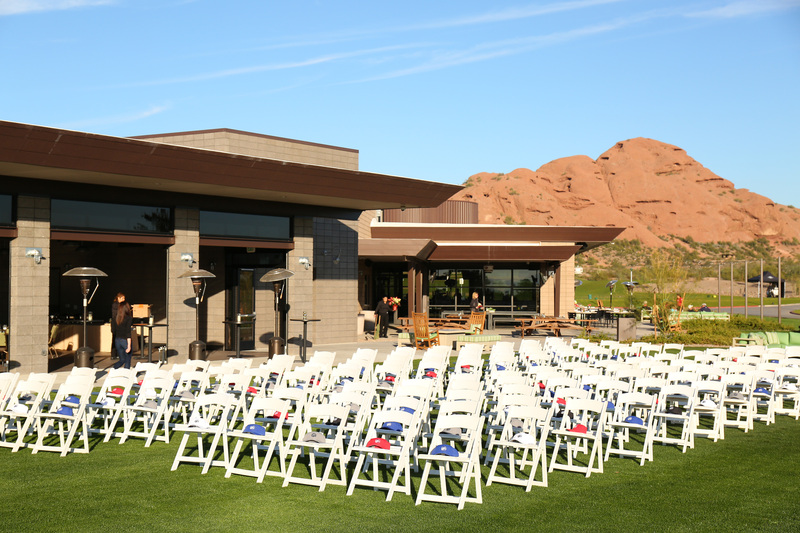 View of an event area at Papago Golf Club