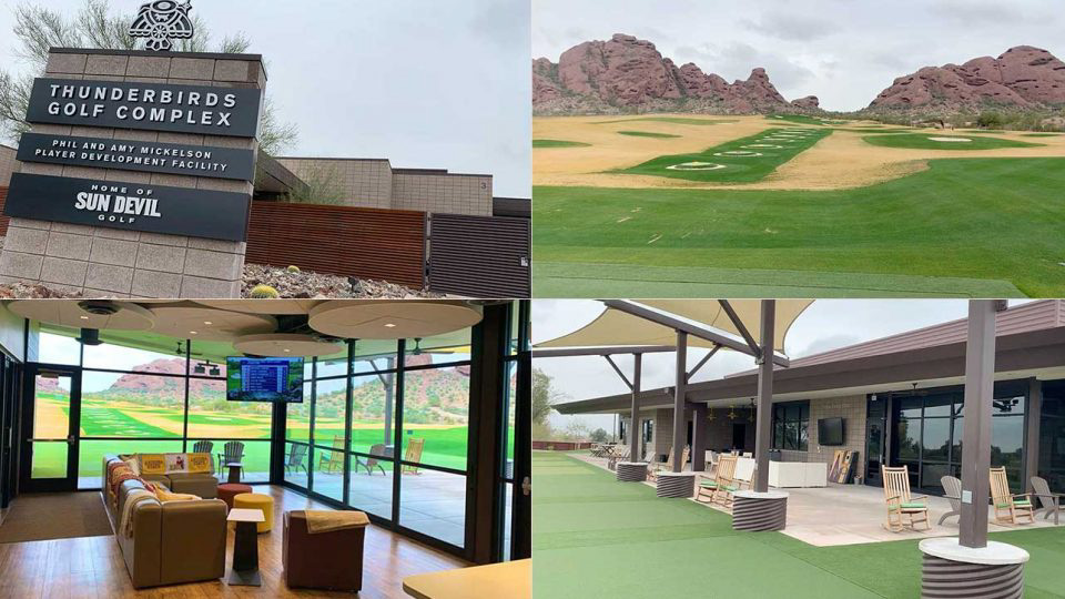 Collage of pictures for Sun Devils golf
